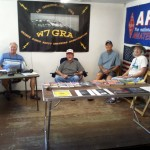 W7GRA operators in their booth at the 2013 Union County Fair.
